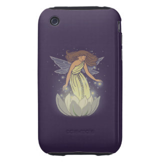 Magic Fairy White Flower Glow Fantasy Art iPhone 3 Tough Case