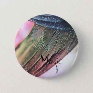 Magic Feather 6 Cm Round Badge