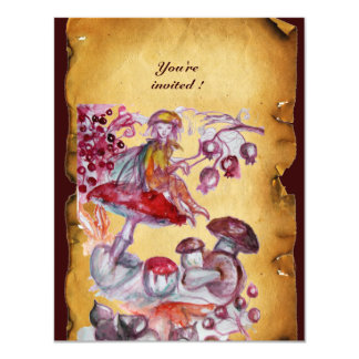MAGIC FOLLET OF MUSHROOMS parchment Card