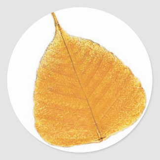 Magic Forest Golden Leaf Round Sticker