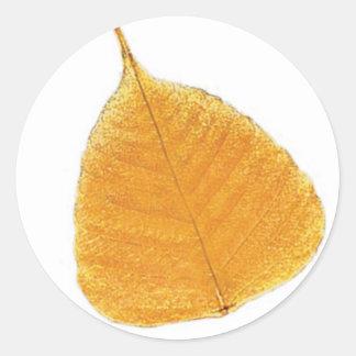 Magic Forest Golden Leaf Classic Round Sticker