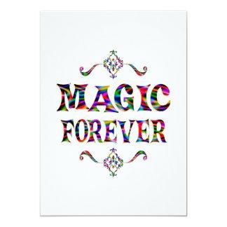 "Magic Forever 5"" X 7"" Invitation Card"