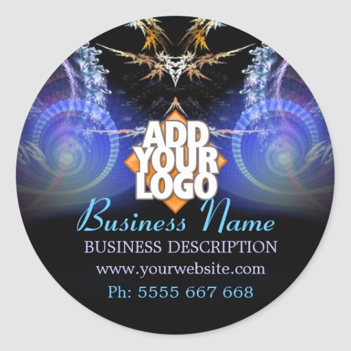 Magic Fractal Shower w/ Logo Business Sticker