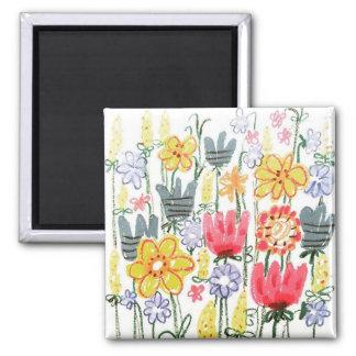 magic garden pastel art Square Magnet