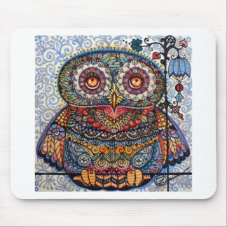 Magic graphic owl painting mouse pad