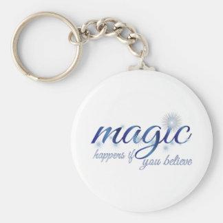 Magic Happens If You Believe Key Chain