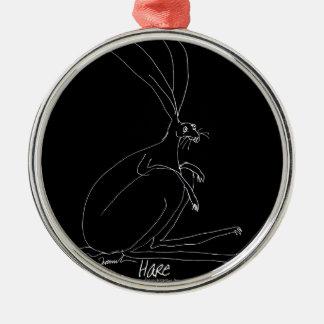magic hare metal ornament