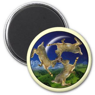 Magic Hares 6 Cm Round Magnet