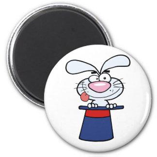 Magic Hat With Happy Bunny 6 Cm Round Magnet