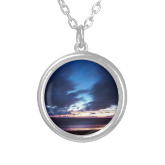 Magic hen Beach in Denmark Silver Plated Necklace