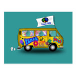 Magic Hippie Van Postcard