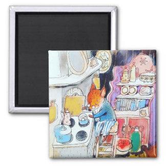 magic home watercolor art Square Magnet