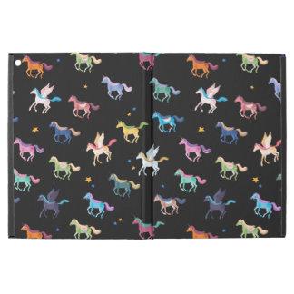 Magic Horses black ipad pro case
