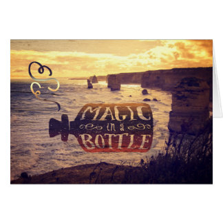 Magic in a Bottle Twelve Apostles Great Ocean Road Greeting Card