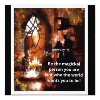Magic 13 Cm X 13 Cm Square Invitation Card