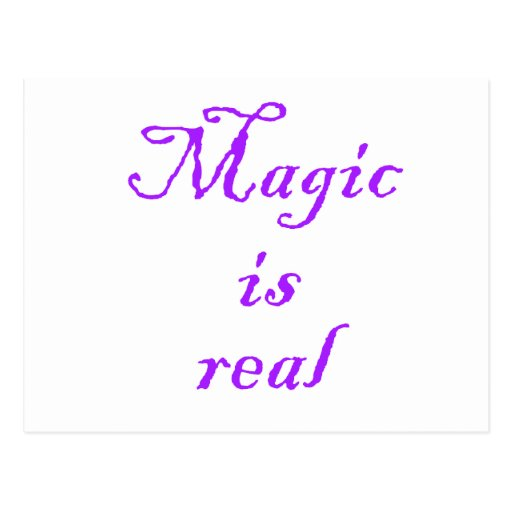 Magic is Real-postcard