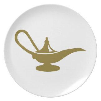 Magic lamp plate