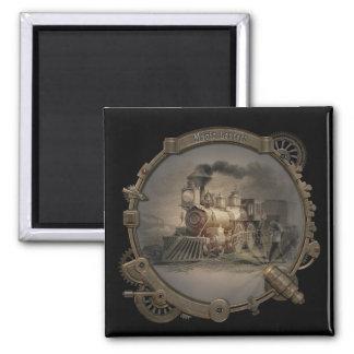 Magic Lantern - Steampunk Style Frame. Square Magnet