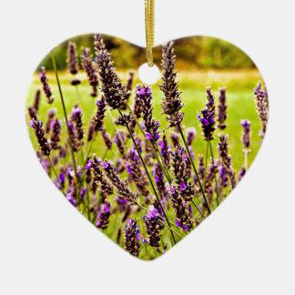 Magic Lavender Ceramic Heart Decoration