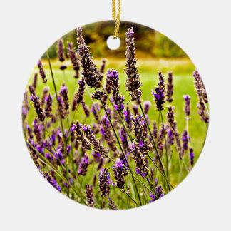 Magic Lavender Round Ceramic Decoration