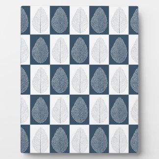 Magic Leaf on Blue Photo Plaque