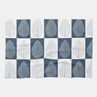 Magic Leaf on Blue Tea Towel