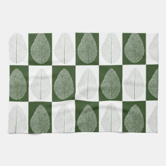 Magic Leaf on Green Tea Towel