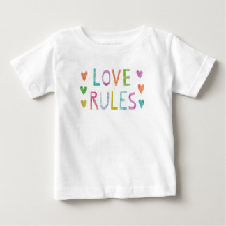 Magic Love Rules with Hearts Baby T-Shirt