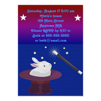 Magic Magician Birthday Party Invitation