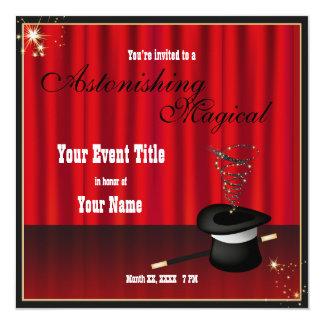 Magic Magician Event Custom Invite