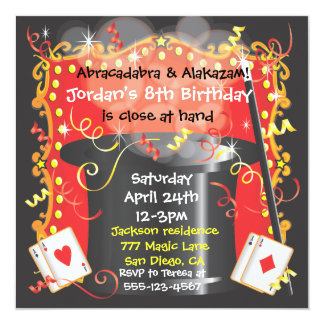 Magic Magician Party Invitation