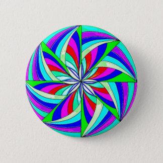 Magic mandala 6 cm round badge