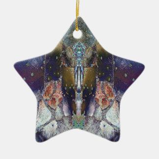 Magic Maple Leaf Star Ceramic Ornament