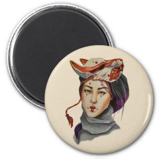 magic mask 6 cm round magnet