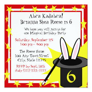 Magic Me Birthday 13 Cm X 13 Cm Square Invitation Card
