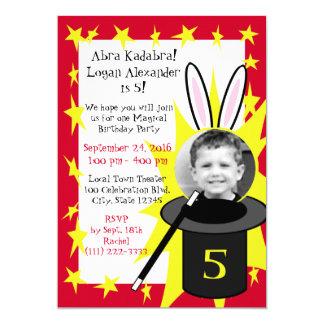 "Magic Me Birthday 5"" X 7"" Invitation Card"