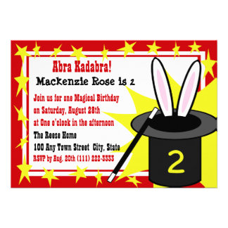 Magic Me Birthday Custom Announcements
