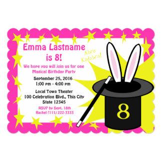 "Magic Me Birthday Pink 5"" X 7"" Invitation Card"