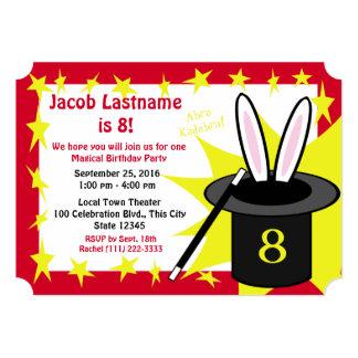 "Magic Me Birthday Red 5"" X 7"" Invitation Card"