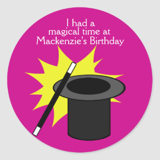 Magic Me Magician's Hat Classic Round Sticker