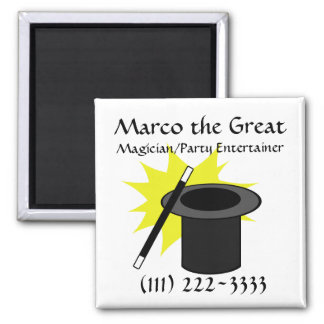 Magic Me/ Magician's Hat Square Magnet