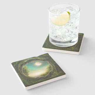 Magic Moon Tree Stone Coaster