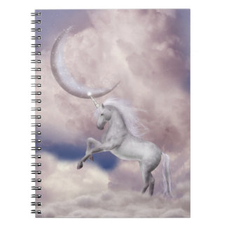 Magic Moon Unicorn Notebook