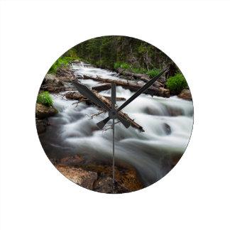 Magic Mountain Stream Round Clock
