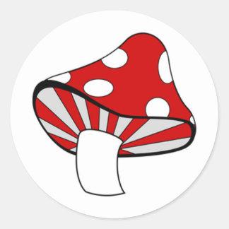 Magic Mushroom Classic Round Sticker