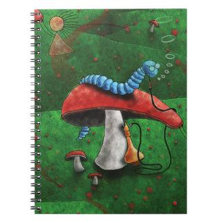 Magic Mushroom Spiral Notebook