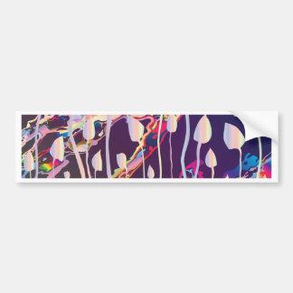 Magic Mushrooms Jazz Background Bumper Sticker