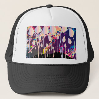 Magic Mushrooms Jazz Background Trucker Hat
