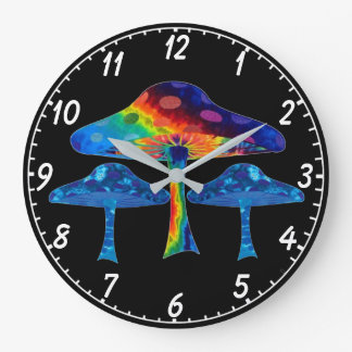 Magic Mushrooms Large Clock