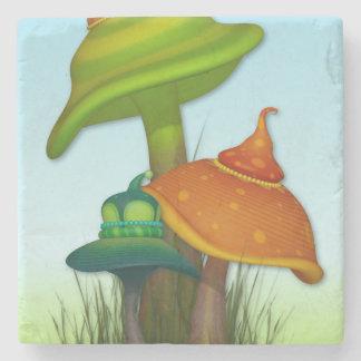 Magic Mushrooms Stone Beverage Coaster